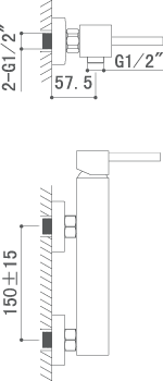 Medidas Grifo monomando para ducha Borrás AMS9204C