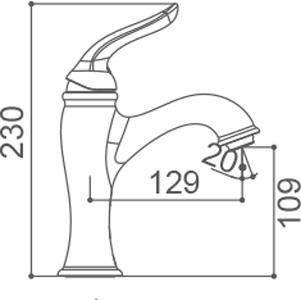 Medidas Grifo monomando para lavabo Borrás DXB1071RG