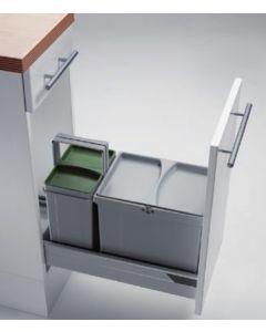 Sistema de almacenaje - Kit de cubos apropiado para gavetas entre 300 mm y 600 mm con tapete antideslizante. PV30-2