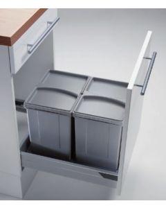 Sistema de almacenaje - Kit de cubos apropiado para gavetas entre 450 mm y 600 mm con tapete antideslizante. PV45-1