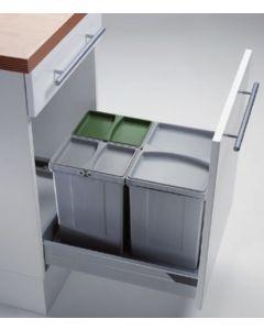 Sistema de almacenaje - Kit de cubos apropiado para gavetas entre 450 mm y 600 mm con tapete antideslizante. PV45-4