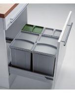 Sistema de almacenaje - Kit de cubos apropiado para gavetas de 600 mm con tapete antideslizante. PV60-1