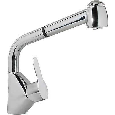 Grifo Monomando fregadero vertical con ducha extraíble - Tres 03944401