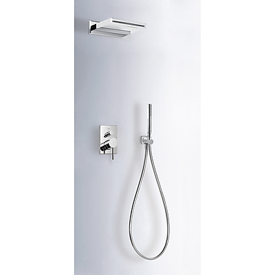 Concealed shower set MAX with water shut off and flow control - Tres 06218005