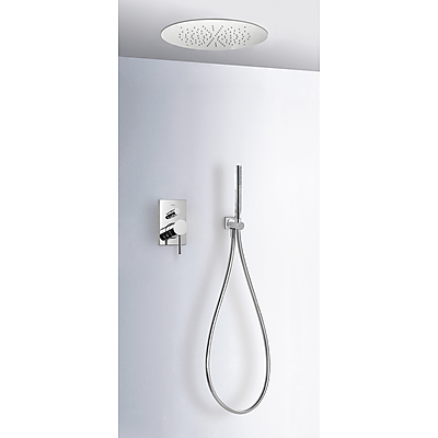 Concealed shower set MAX with water shut off and flow control - Tres 06218009
