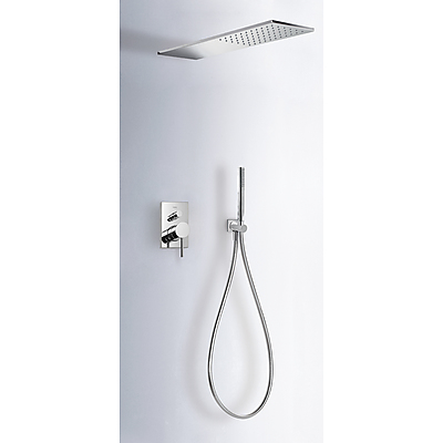 Concealed shower set MAX with water shut off and flow control - Tres 06251601