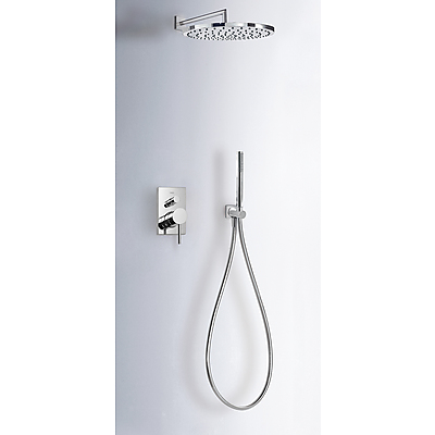 Concealed shower set MAX with water shut off and flow control - Tres 06298001