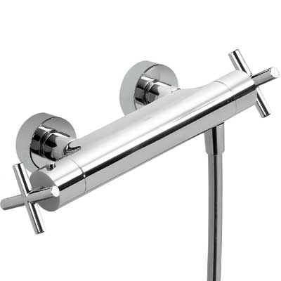 Wall thermostatic shower mixer - Tres 06316201