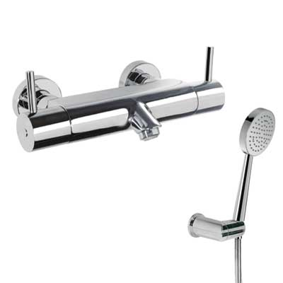 Wall thermostatic shower mixer - Tres 09097401