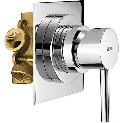 5-way diverter with water shut off and flow control - Tres 134550
