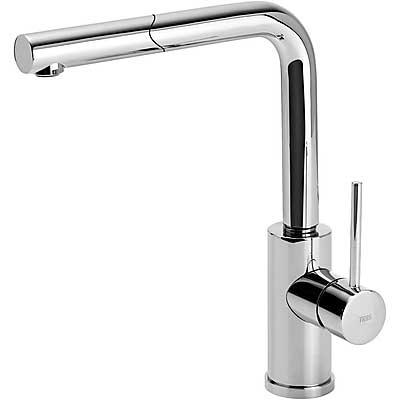 Grifo Monomando fregadero vertical MAX‑TRES con ducha extraíble - Tres 162437