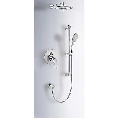 Concealed bath & shower kit with water shut off and flow control - Tres 169980