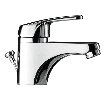 Single lever washbasin mixer ecological and automatic drain - Tres 17510402