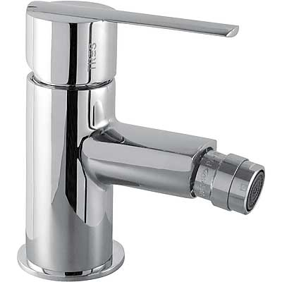 Single lever bidet mixer and automatic drain - Tres 186120