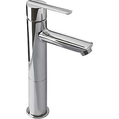 Single lever washbasin mixer with base extension and automatic drain - Tres 186217