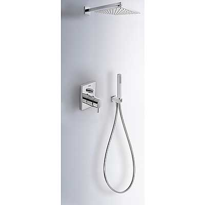 Concealed thermostatic shower kit with water shut off and flow control (2 ways) - Tres 190960