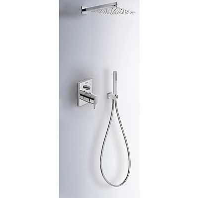 Kit de ducha termostático empotrado (2vías).  - Tres 190960