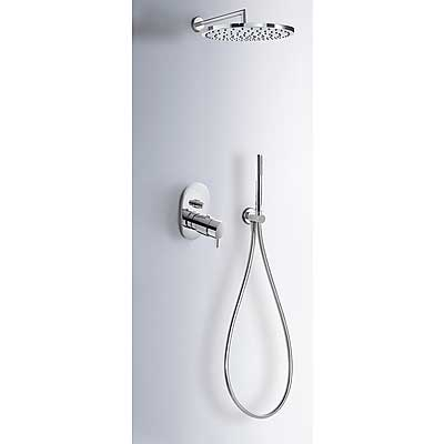 Concealed thermostatic shower kit with water shut off and flow control (2 ways) - Tres 190970