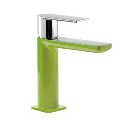 Single lever washbasin mixer green - Tres 20010301VED