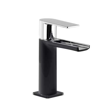 Single lever washbasin mixer with open cascade spout black - Tres 20011001NED