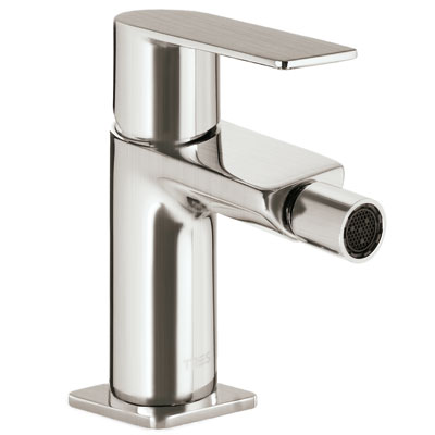 Single lever bidet mixer steel - Tres 20012001ACD