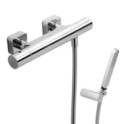 Wall thermostatic shower mixer LOFT - Tres 20016409