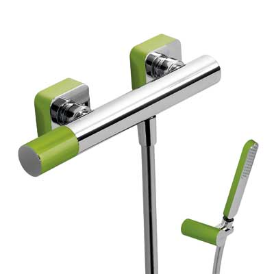 Single lever shower mixer green - Tres 20016701VE