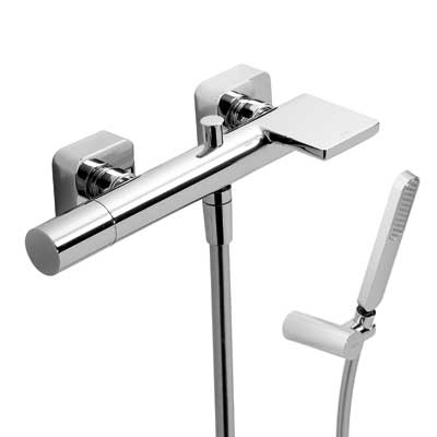 Single lever bath and shower mixer with cascade - Tres 20017001