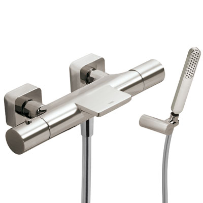 Wall thermostatic shower mixer with cascade steel - Tres 20017409AC