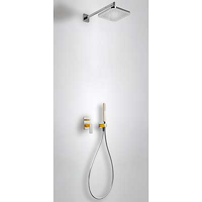 Concealed shower set with water shut off and flow control amber - Tres 20018002AM