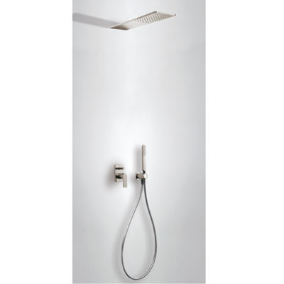 Concealed shower set with water shut off and flow control steel - Tres 20018005AC