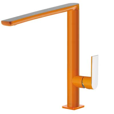Single lever washbasin mixer spout 35x15 mm orange - Tres 20020503NAD