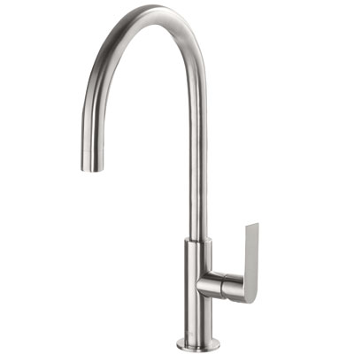 Single lever washbasin mixer steel - Tres 20020506ACD