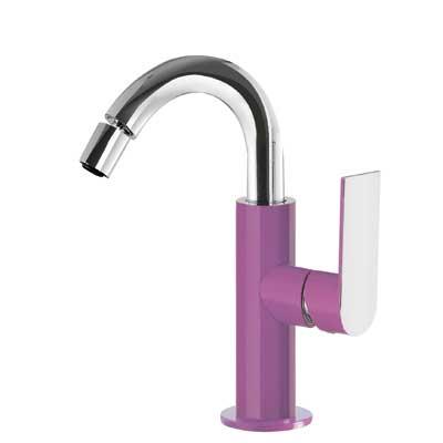 Single lever bidet mixer violet - Tres 20022401VID