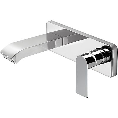 Single lever wall washbasin mixer with cascade cast spout - Tres 20026010