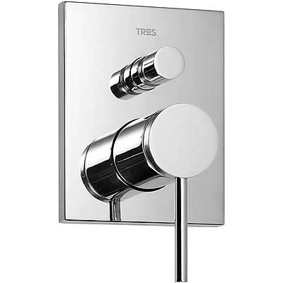Built-in MONO-TERM for bathtubs-showers with water shut off and flow control - Tres 20118001