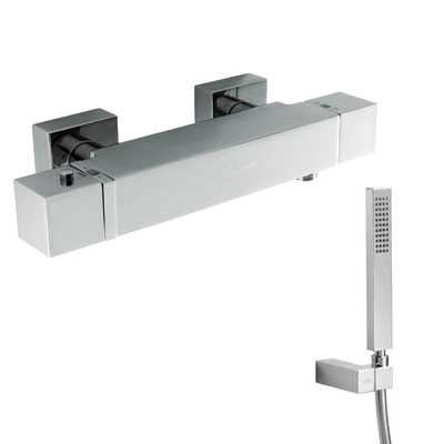 Wall thermostatic shower mixer - Tres 20216409