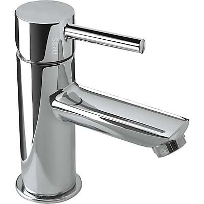 Single lever washbasin mixer and automatic drain - Tres 20310303D