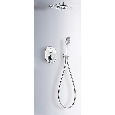 Concealed shower set ALPLUS with water shut off and flow control - Tres 20318002