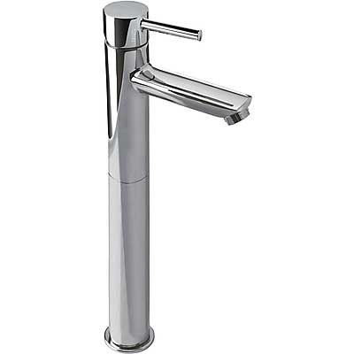 Single lever washbasin mixer with base extension and automatic drain - Tres 20320701D
