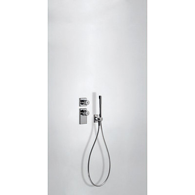 Concealed thermostatic mixer with water shut off and flow control (1 way) - Tres 20635191