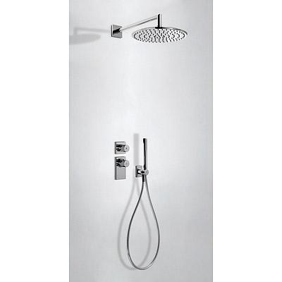 Kit de ducha termostático empotrado (2vías).  - Tres 20635201