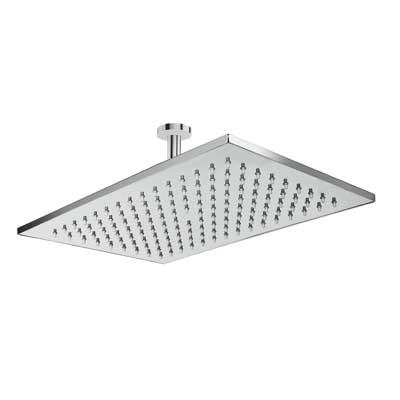 Brazo de ducha a techo con rociador anticalcárea 320x220mm. - Tres 29943202