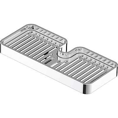 Jabonera CUB para barra deslizante Ø18mm. y Ø24mm. - Tres 918719510